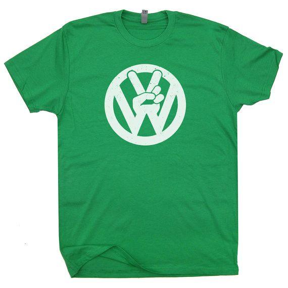 VW Volkswagen T Shirt Funny Vintage Soft Shirts by Shirtmandude