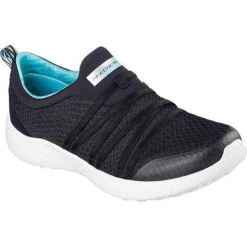 Shoes Outlet - Skechers Burst Very Daring Black Womens Trainers