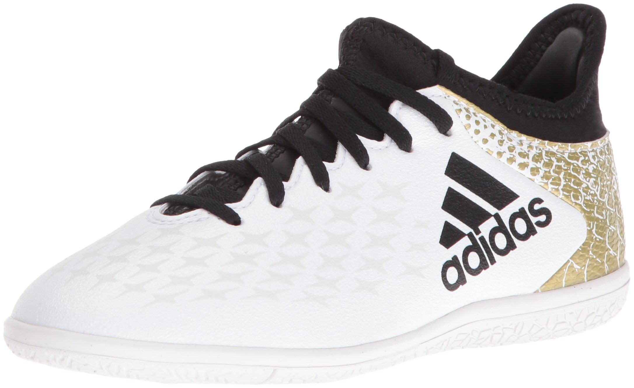 adidas Performance Kids' X 16.3 Indoor Soccer Cleats, White/Black ...