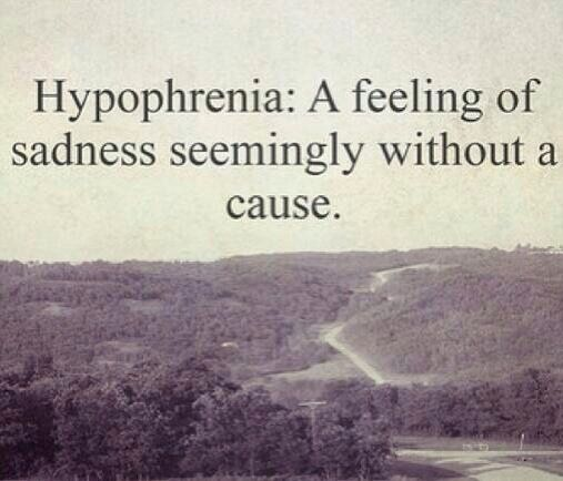 Beautiful Sad Quotes: Definition Of Hypophrenia