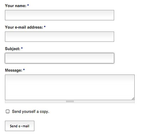 PersonalizzareContactForm  Web Design  Css  Jquery