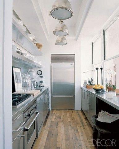 cocina rectangular pequeña | Cocina | Pinterest | Cocinas, Cocinas ...