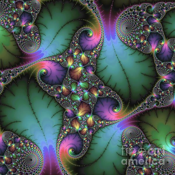 Mandelbrot fractal artwork, beautiful colors (green, purple and many more). Available as poster, print or canvas print here: http://matthias-hauser.artistwebsites.com/featured/stunning-mandelbrot-fractal-matthias-hauser.html - Prices starting at $32 for an art print. Watermark will not appear on final product. 30 days money back guarantee. Square format. Comes out great as large metal or acrylic print!