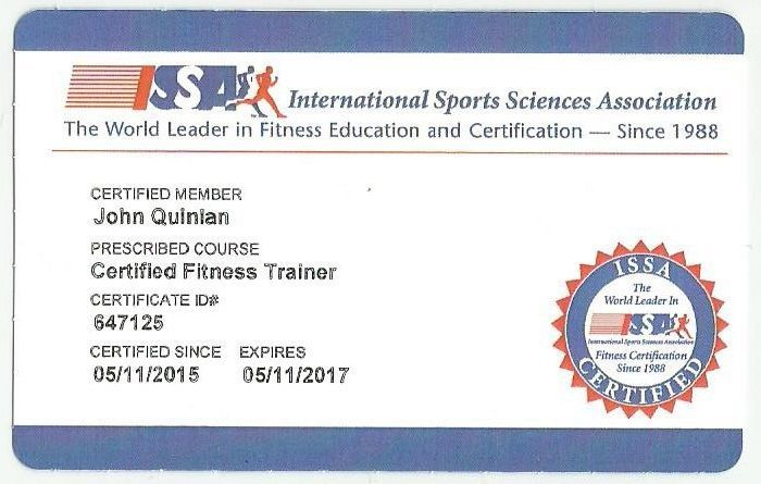 9df01851cca John Quinlan - ISSA Official Certified Personal Trainer  JohnQuinlan ...