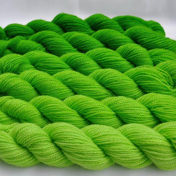 Bright Lime Gradated Yarn Set