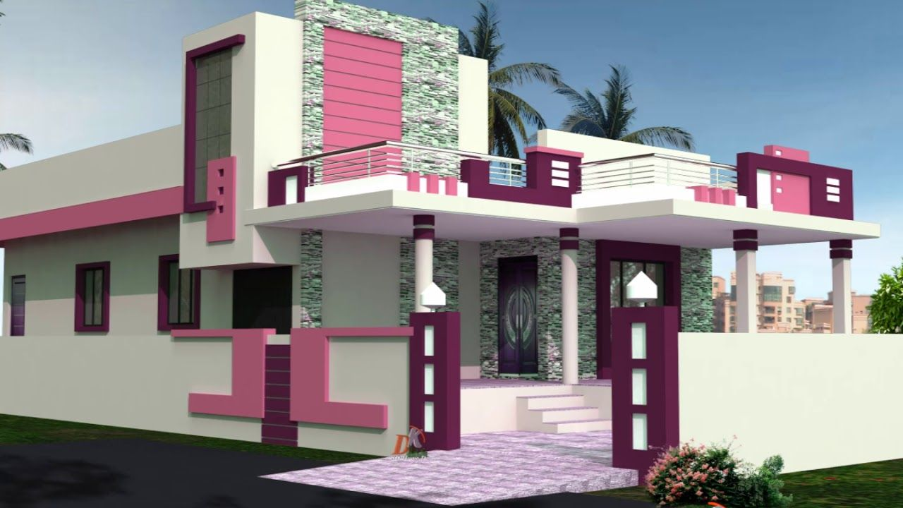 Exterior Indian Simple House Colour Combination Outside