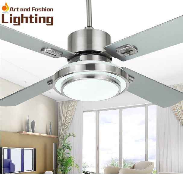 Stainless steel ceiling fan light 4 blade stainless steel 42 inches stainless steel ceiling fan light 4 blade stainless steel 42 inches ceiling fan with lights led mozeypictures Choice Image
