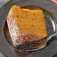 Pumpkin Chiffon Cake - moist, delicious and only 123 calories a serving!