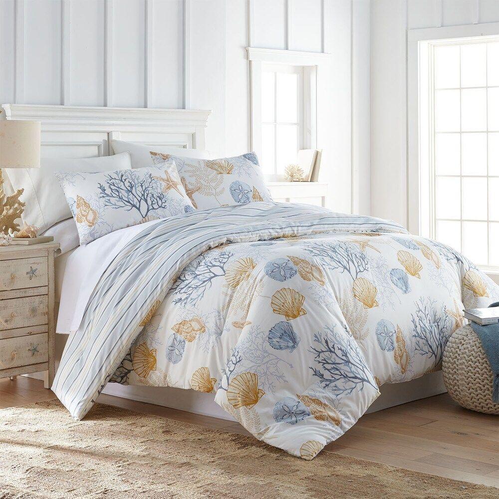Sea Cottage Spring Green Coastal Comforter Bedding Bed Design