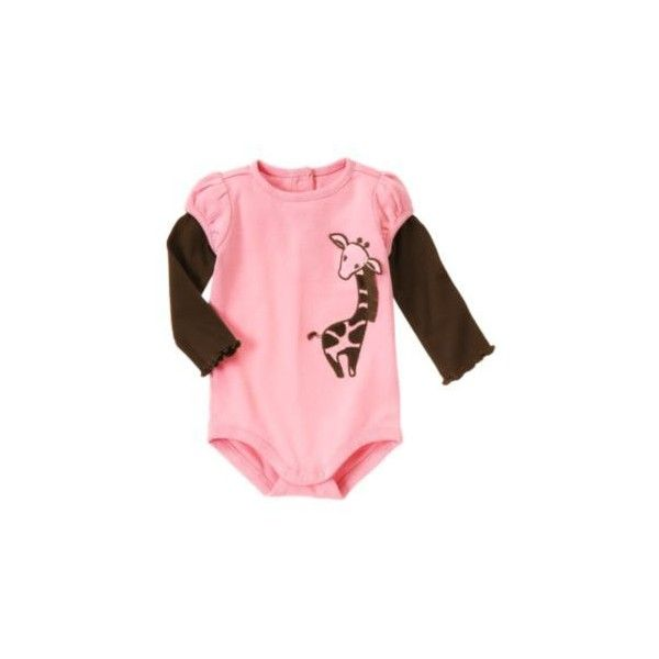 Gymboree - Glamour Giraffe & Doggone Cute ❤ liked on Polyvore featuring baby, baby clothes, baby stuff, baby girl clothes and baby girl