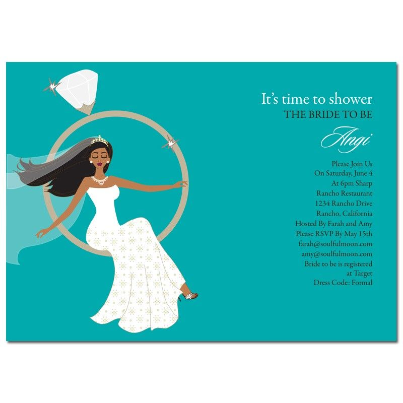 african american bridal shower invitations ring swing bride