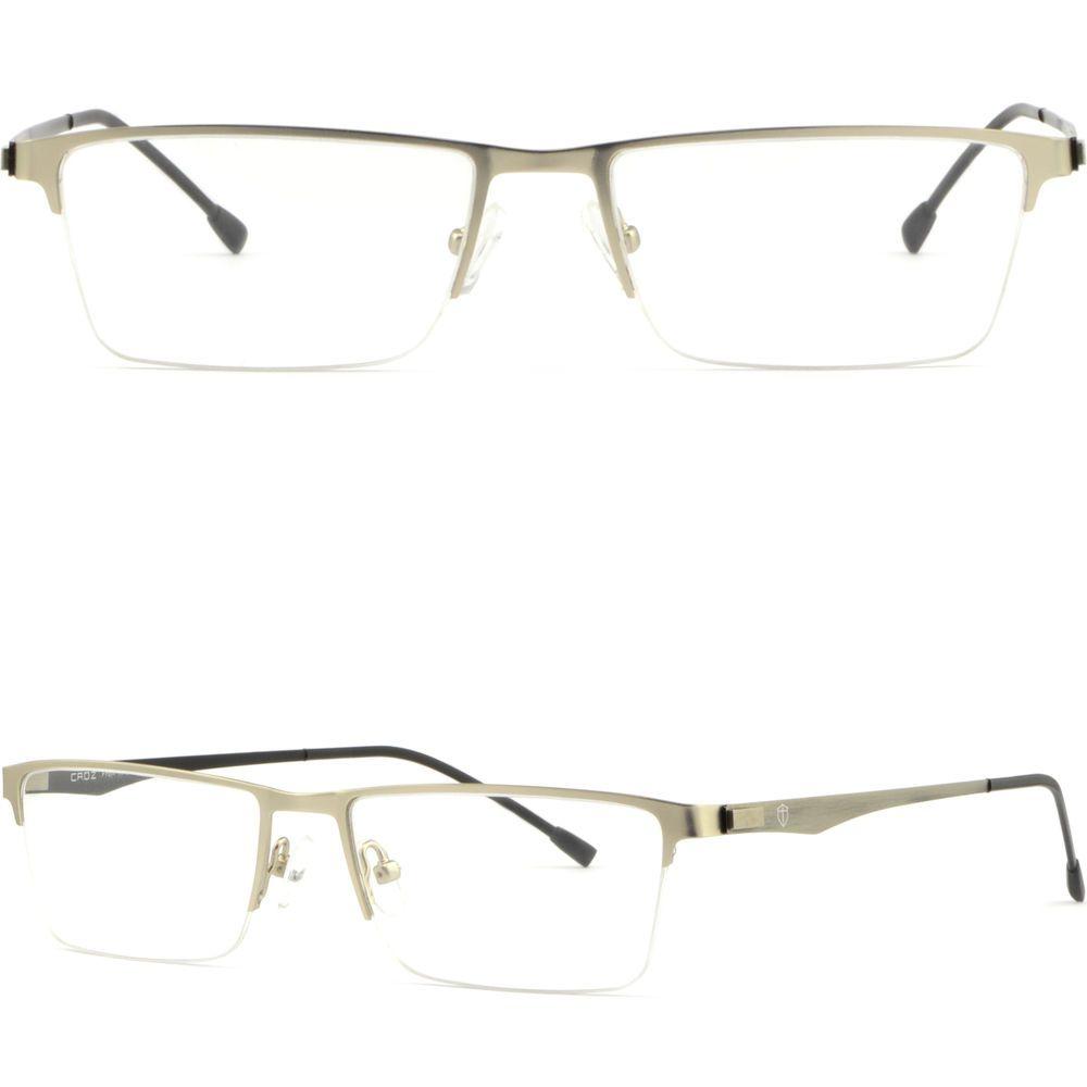 338e8f176ed9 Silver Half Rimless Thin Light Men Women Titanium Frame Prescription Eye  Glasses  Unbranded