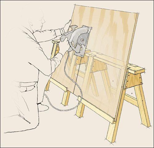 Caballetes modificados para cortar madera y otros for Cortar madera con radial