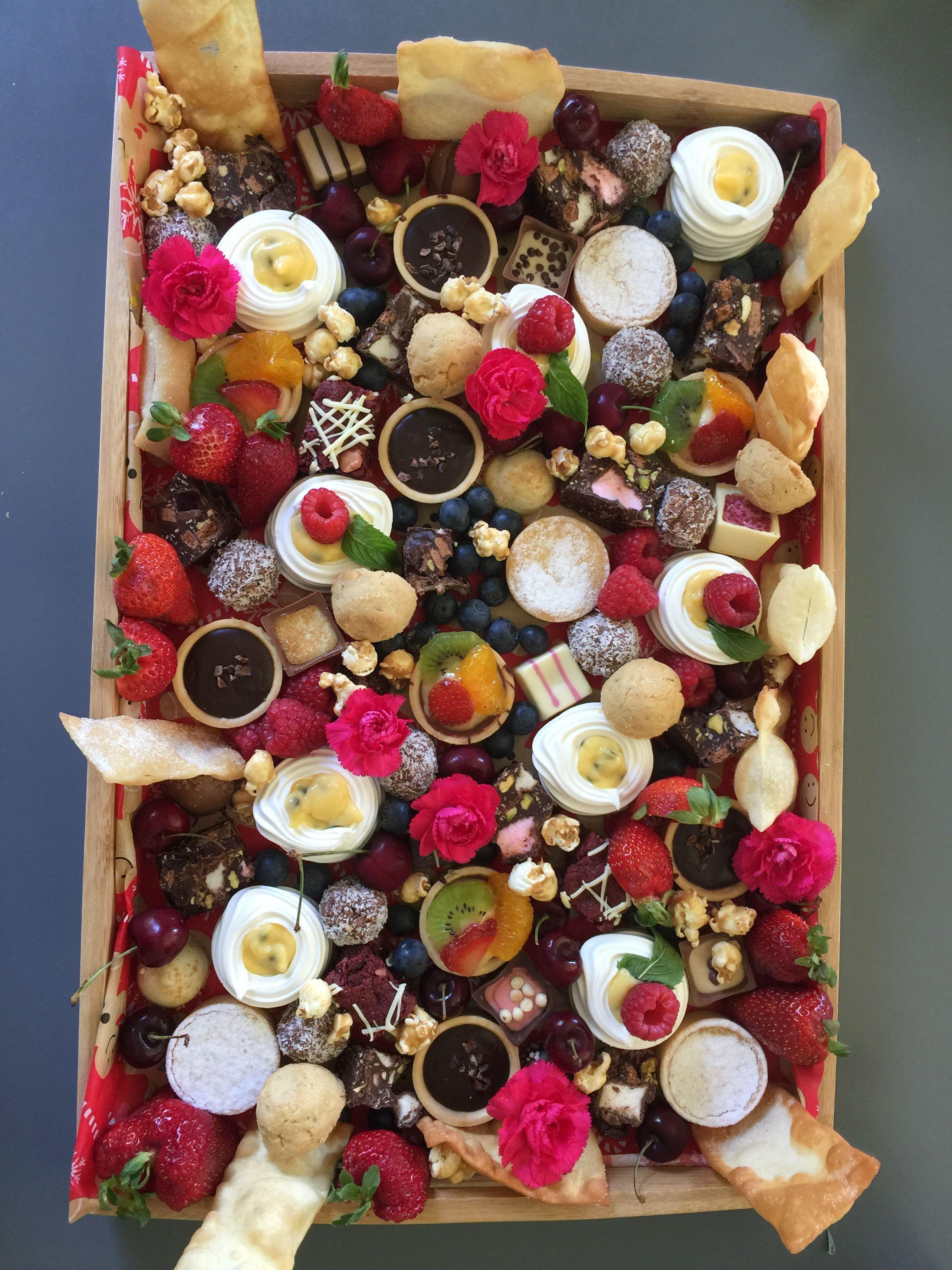Christmas Day dessert platter Christmas dessert platter