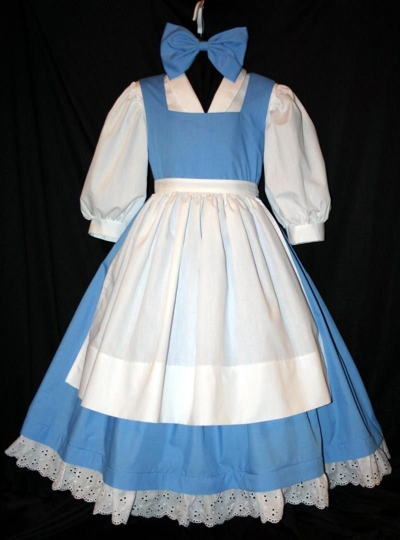 Belle Blue PROVINCIAL Costume 4 Pc SET Child Size | Disney, Belle ...