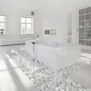 Good Bathroom With River Rock Floor   Design, Decor, Photos, Pictures . Part 10