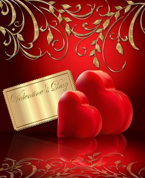 Free Valentine's Day clipart psd (psd backgrounds) - two hearts on ...