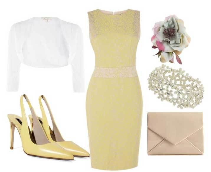 Summer wedding outfits ideas for guests yellow dress for Summer wedding dresses guests