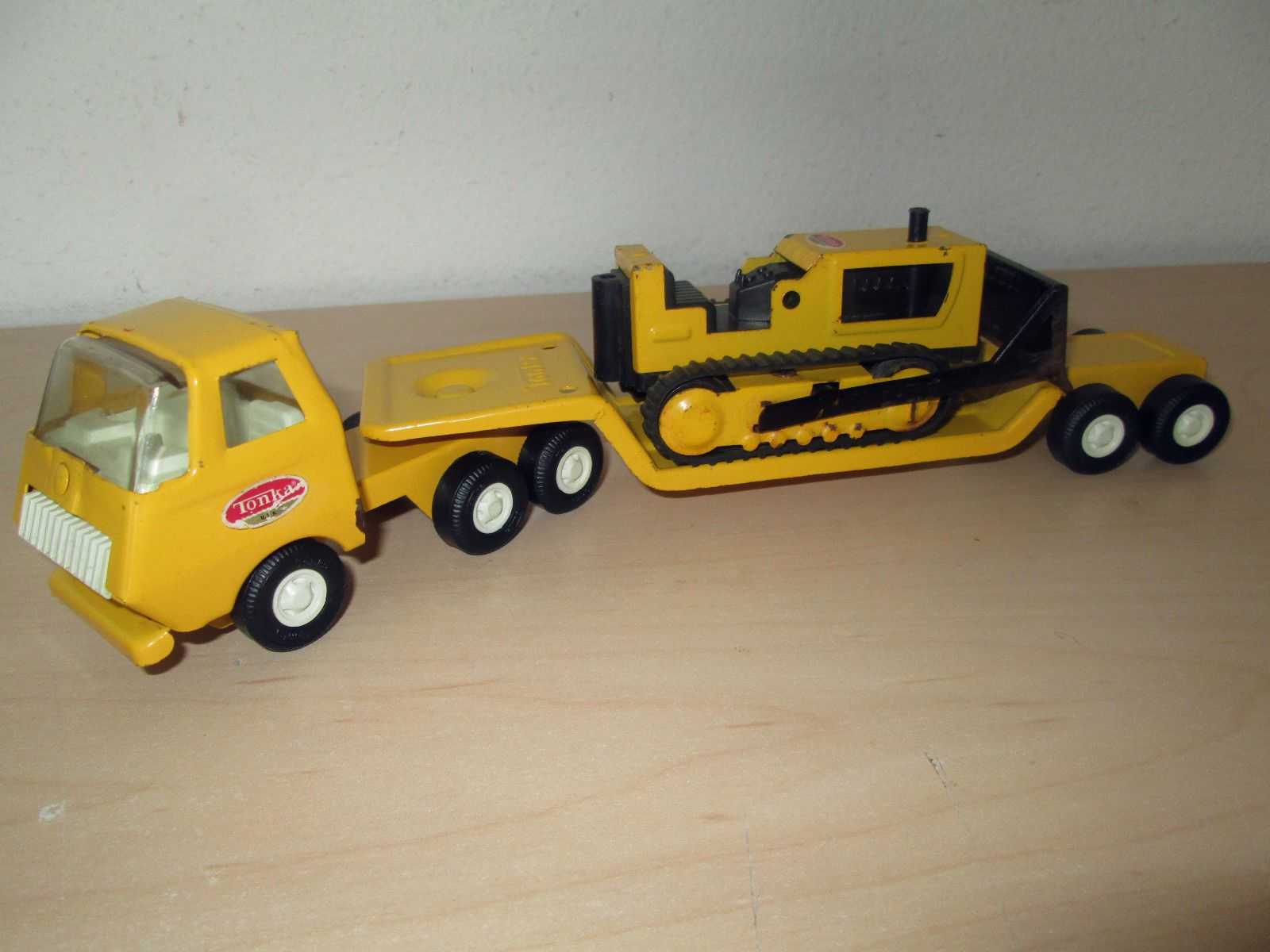 Low Boy Toys : Tiny tonka semi truck low boy trailer bulldozer