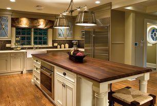 Traditional Kitchen With Heirloom Wood Countertops Black Walnut Plank,  Undermount Sink, U Shaped