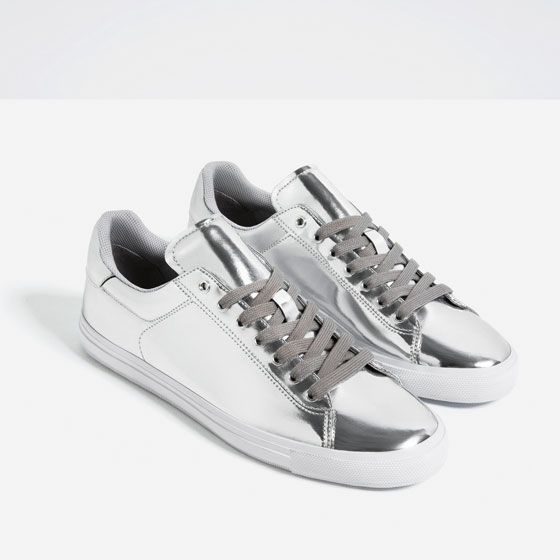 Image 6 of SILVER SNEAKERS from Zara