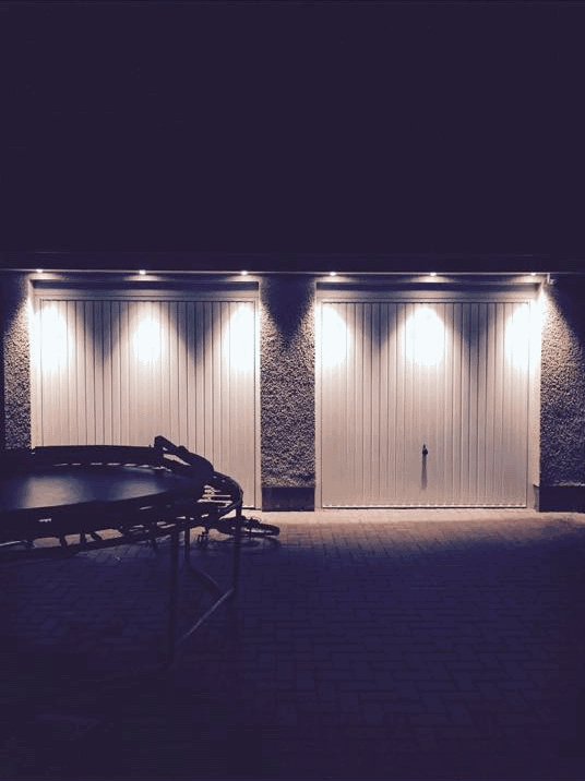 Awesome Outdoor Sensor Lights Installed On A Domestic Garage By Capital City  Electrical. Please Get In Touch If You Would Like This Done Too. Great Pictures