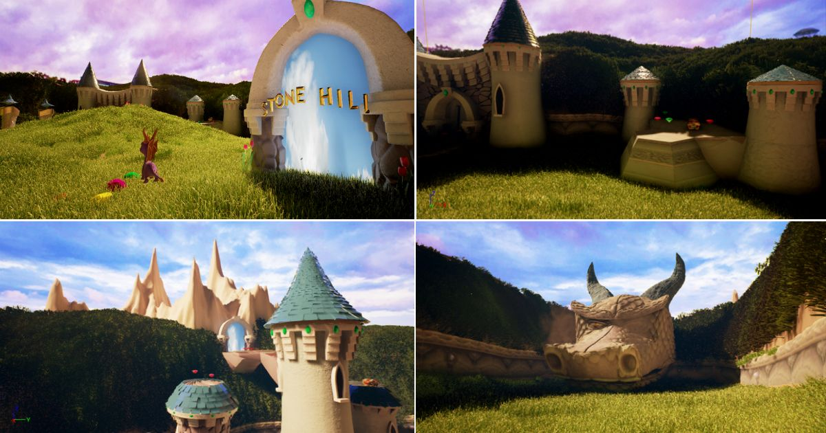 Fan Recreates 1st Stage of Spyro the Dragon Game in Unreal