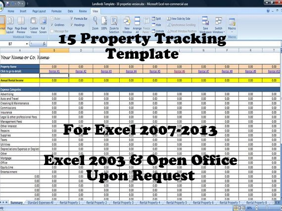 15 Property Tracking \u2013 Expense and Rental Income Tracking Template