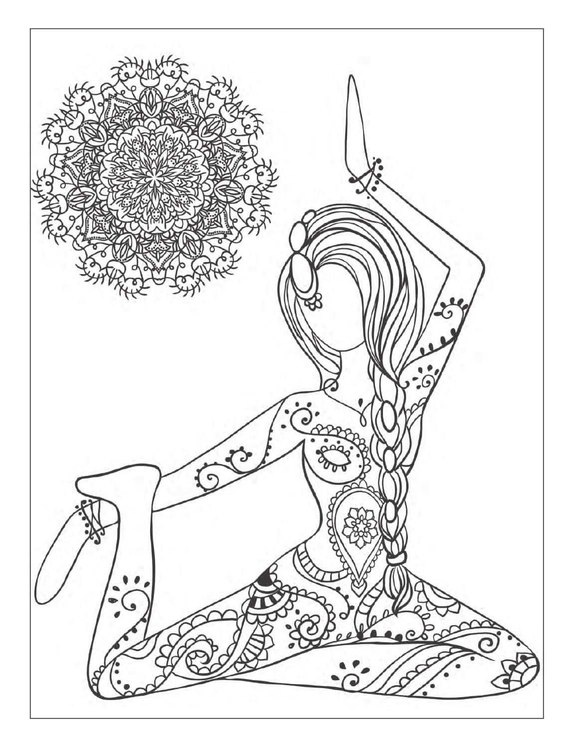Adult coloring book the inspired room interior design coloring book - Yoga And Meditation Coloring Book For Adults With Yoga Poses And Mandalas