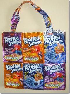 Recycled Juice Boxes Tote Bag Patterns Juice Box Crafts Juice Boxes Tote Bag Pattern
