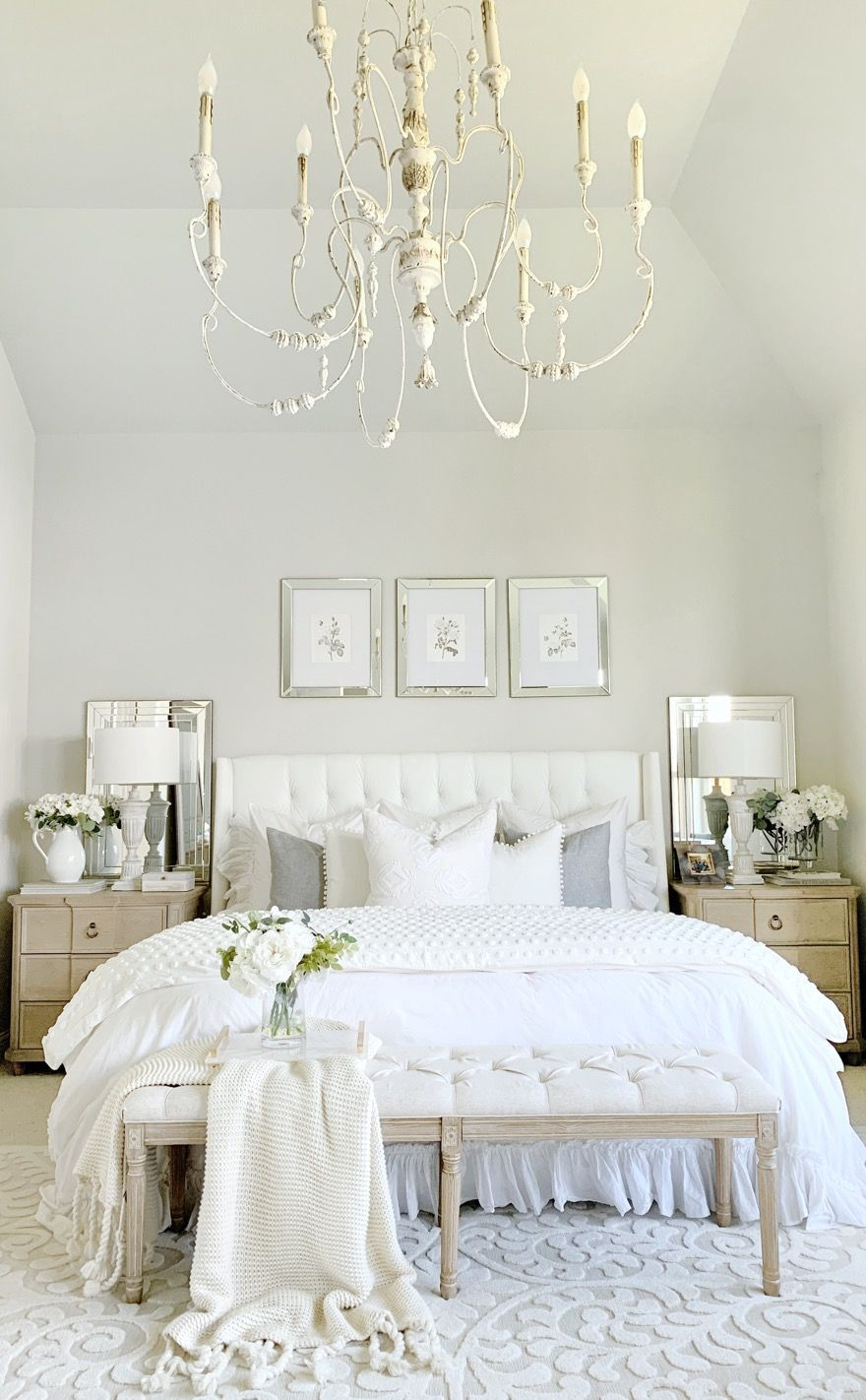 New French Country Bedroom Chandelier In 2020 French Country Bedrooms Country Bedroom Bedroom Sitting Room