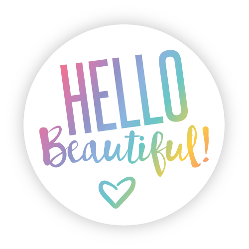 Hello beautiful stickers white round 1 5″ getmybusinesscards com