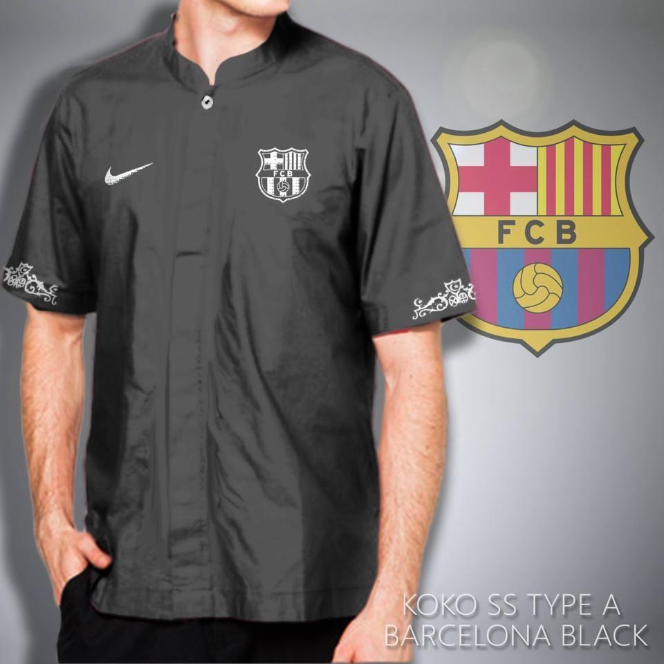Baju Koko Bola Muslim Pria Barcelona Berkahmurahcom Tendencies Kaos About Sports Hitam S Bajukoko