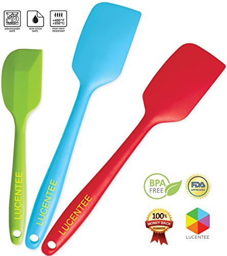 Lucentee 3 Piece Silicone Spatula Set For Only 17 49