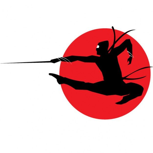 Download Ninja Silhouette On Red Circle Background For Free Ninja Cumpleanos De Ninjas Dibujos