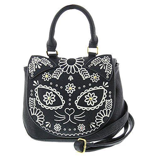 Banned Sugar Kitty Shoulder Bag Cute Rockabilly Goth Style