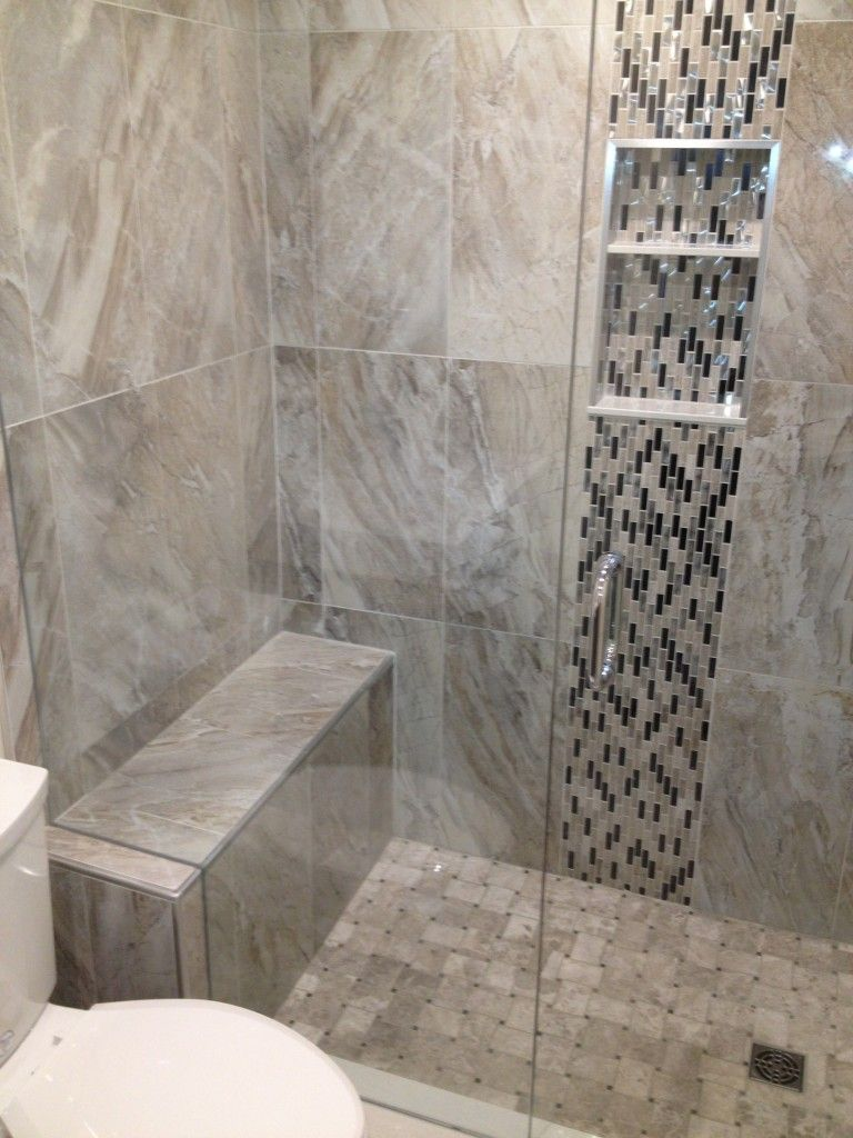use the arabesque tile up the middle???? (18) | Showers | Pinterest ...