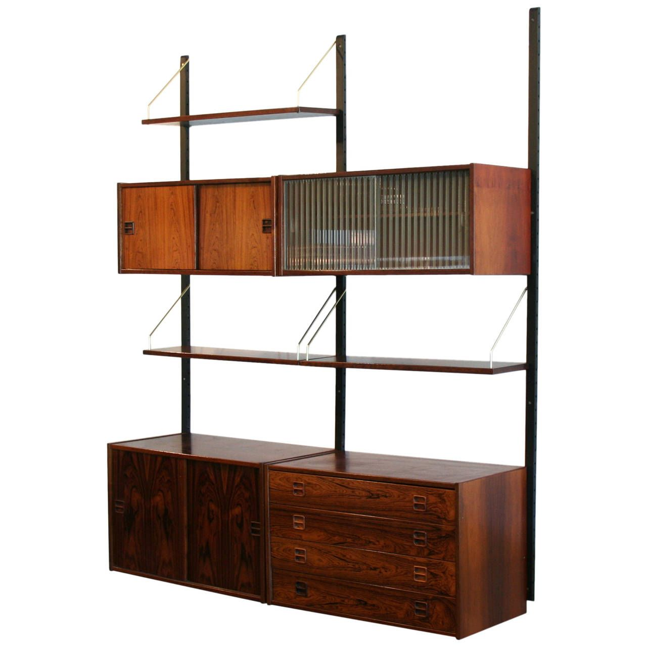 Scandinavian Modernbedroom Furniture: Vintage Danish Rosewood Wall System