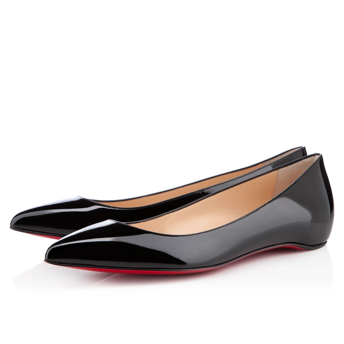 PIGALLE PATENT FLAT, Patent Leather, black, flats, womens shoes