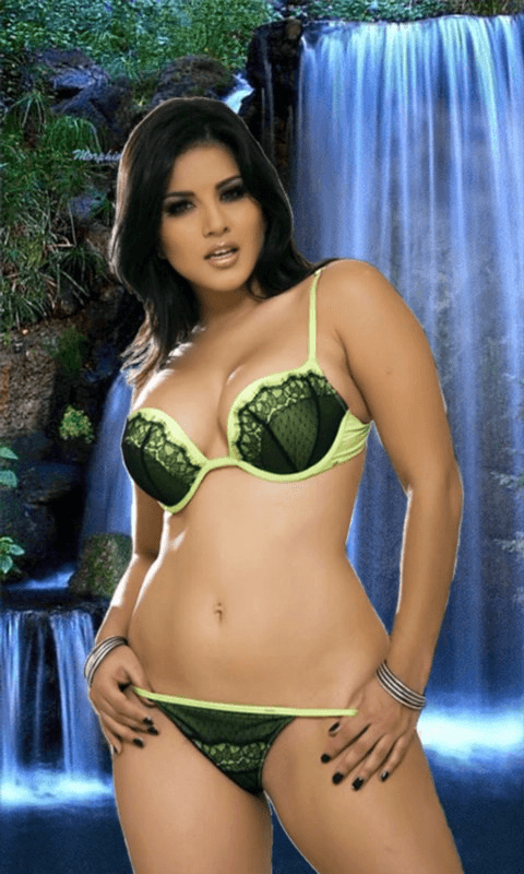 Hot Sunny Leone Babe Waterfalls Live Wallpaperbr Br Download