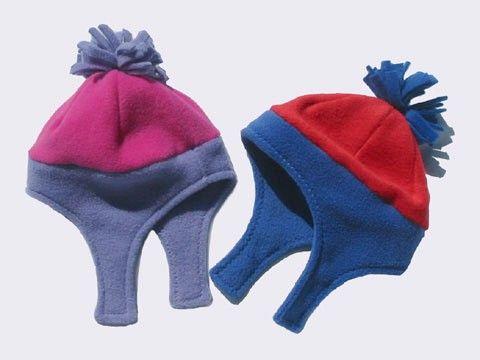 Fleece Hats INSTANT DOWNLOAD Sewing Pattern PDF