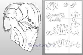 Starting my pepakura deathstroke helmet Stage 1Download pepakura
