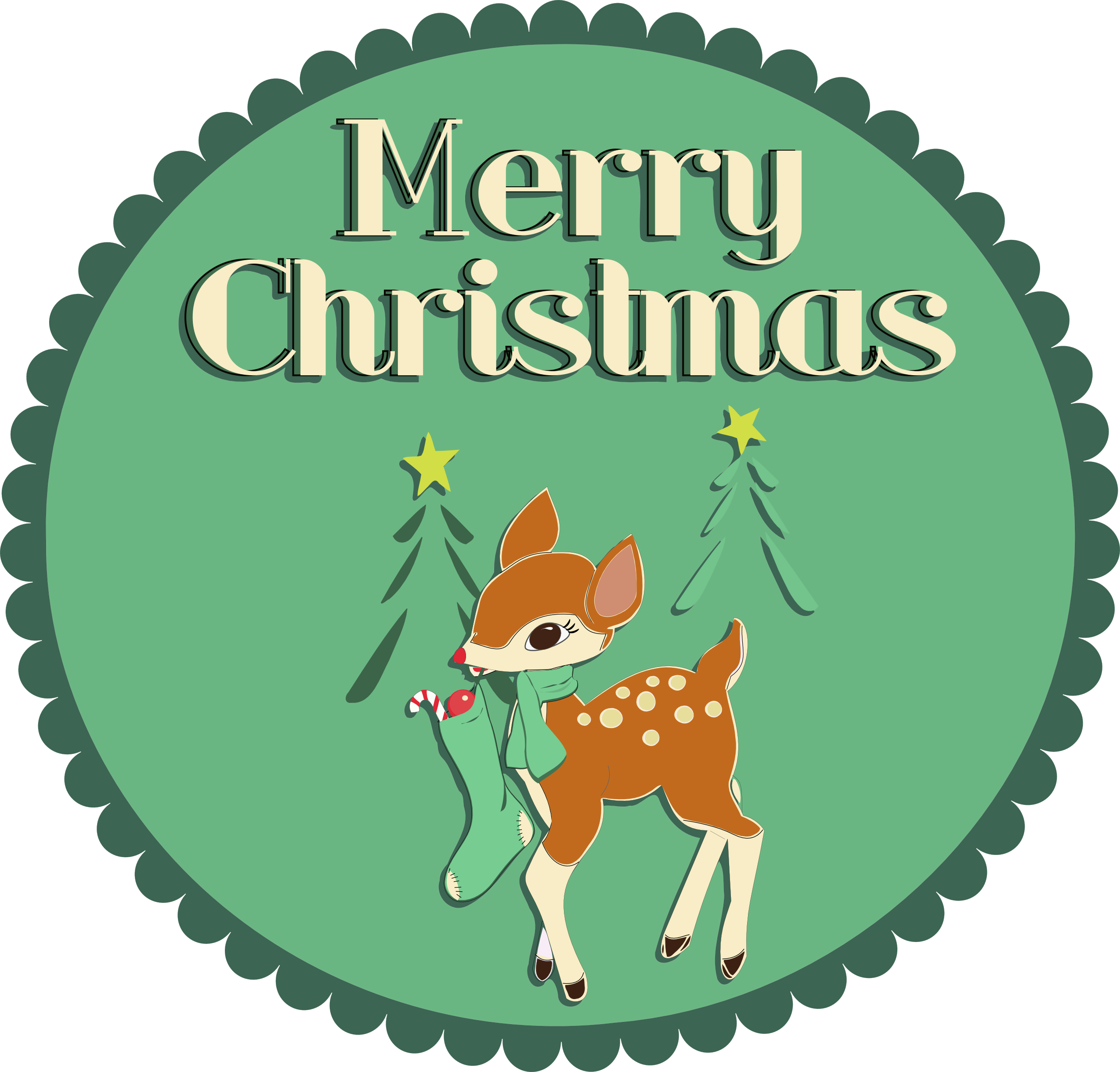 Inkscape Merry Christmas Fawn Merry Christmas Christmas Svg Merry