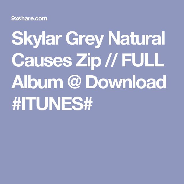 Skylar Grey Natural Causes Zip FULL Album Download ITUNES