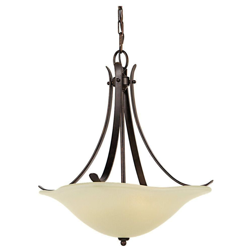 Feiss Morningside 3-Light Grecian Bronze Uplight Chandelier-F2045/3GBZ - The Home Depot