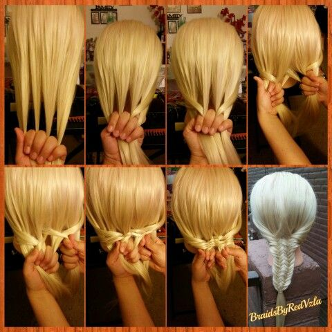 Awesome Pic Tutorial About How To Do A Fused Fishtail Braid Inspired Short Hairstyles Gunalazisus