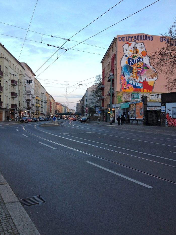City streetscape Berlin. Beautiful city of art and culture