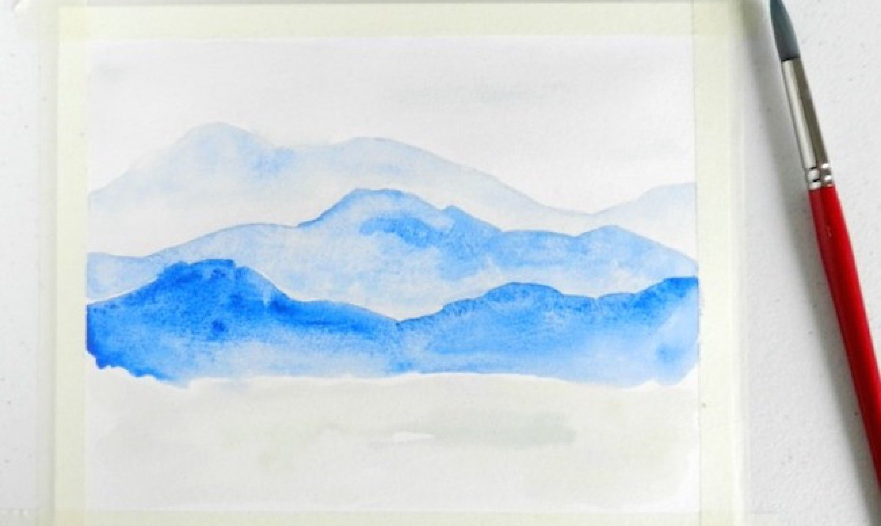 Learn To Paint A Watercolor Mountainscape Mountain Paintings