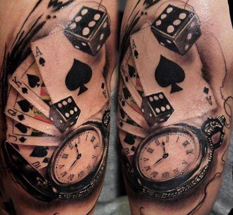 75 Dice Tattoos For Men The Gambler S Paradise Of Life Dice Tattoo Playing Card Tattoos Card Tattoo