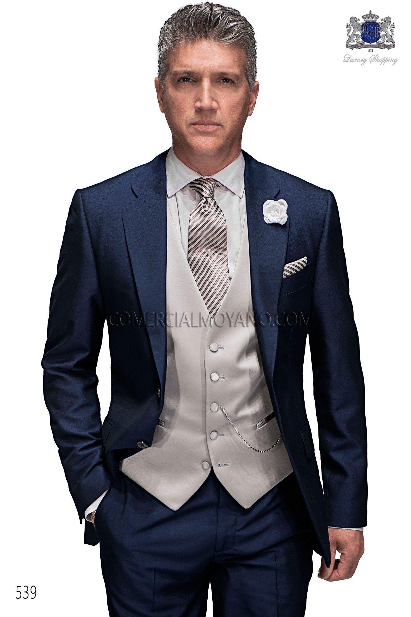 Italian midnight blue wedding suit in 2019  fae2558c88e